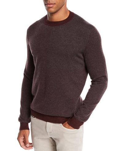 Men's York Heathered Cashmere Sweater