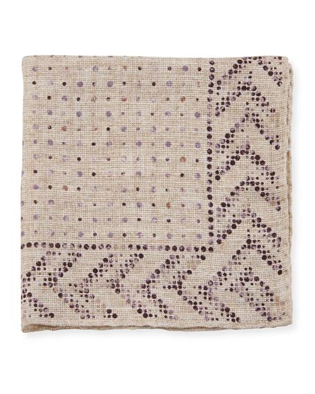 Brunello Cucinelli Dot-Pattern Pocket Square