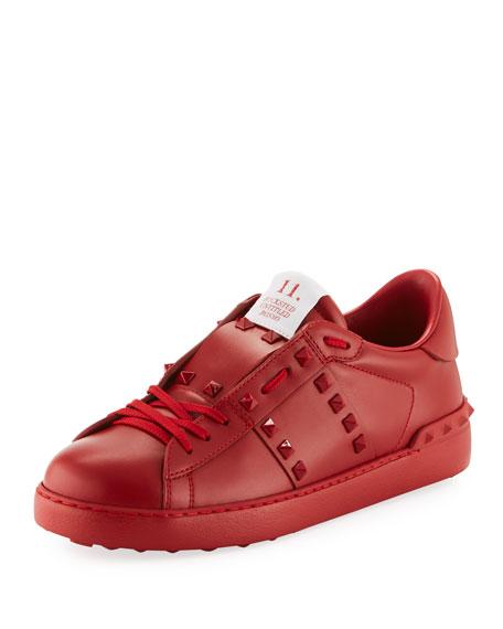 20609228c Valentino Garavani Rockstud Untitled Men's Leather Low-Top Sneakers