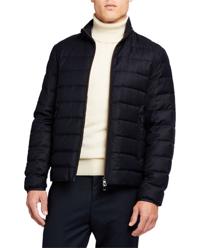 Men's Zip-Front Puffer Jacket
