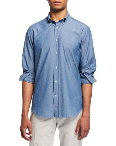 Men's Alfred Chambray Sport Shirt