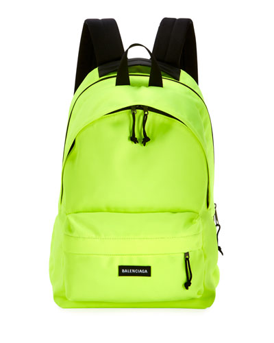 Men's Canvas Double Backpack