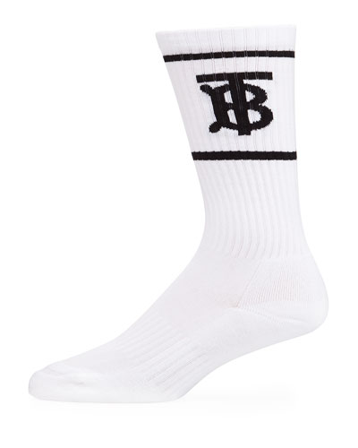 Men's TB Logo Dual-Stripe Sport Socks
