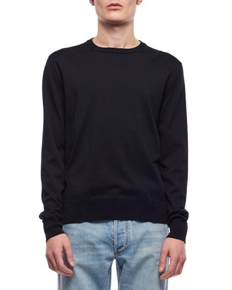 THE ROW Men's Benjamin Crewneck Long-Sleeve Shirt