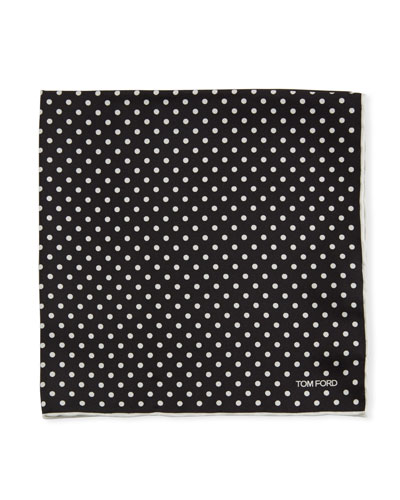 Polka Dotted Silk Pocket Square