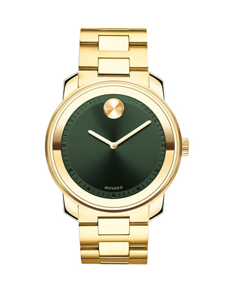 Movado Bold Men's Bold Gold IP Stainless Steel