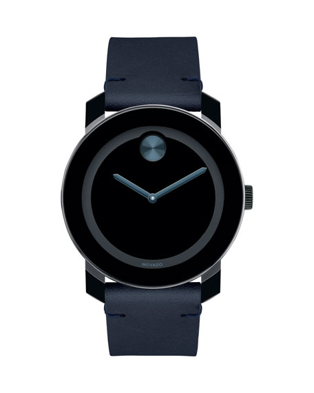 Movado  MEN'S BOLD TR90 TWO-HAND WATCH WITH BLUE LEATHER STRAP