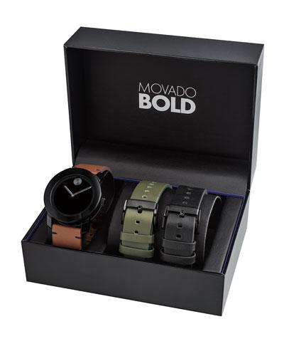 Men's TR-90 Watch Gift Set