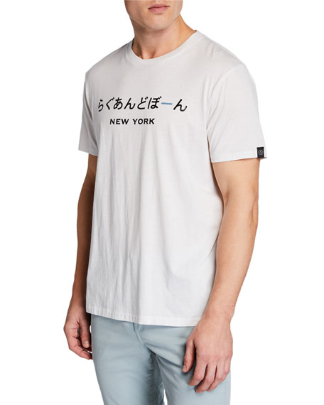 Men's New York Japanese-Printed Short-Sleeve Jersey Cotton Tee