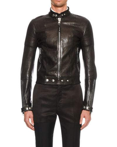 Men's Leather Biker Jacket