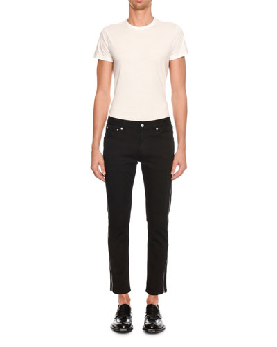 Men's Full Side-Zip Skinny Jeans