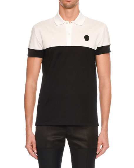 Alexander McQueen Men's Short-Sleeve Pique Polo Shirt