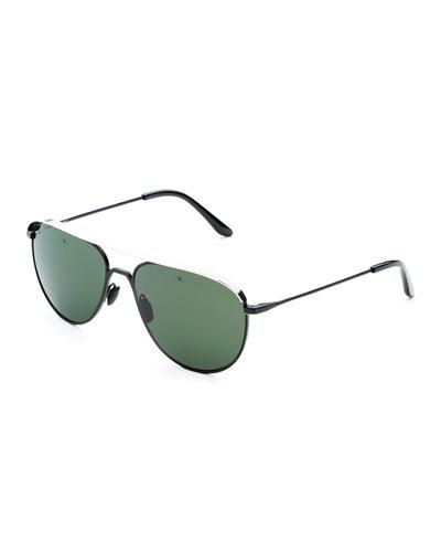 402b26bca5b0 Promotion Men s Metal-Capped Pilot Sunglasses - Polarized Quick Look.  Vuarnet