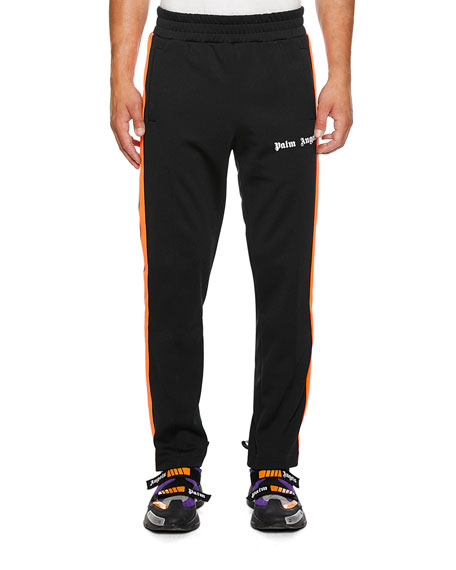 Palm Angels Pants MEN'S SIDE-STRIPE TRACK PANTS