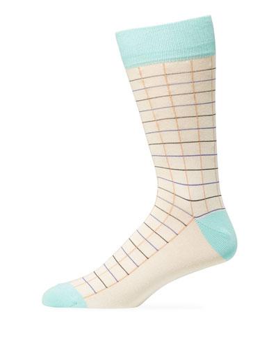 Men's Grid Socks