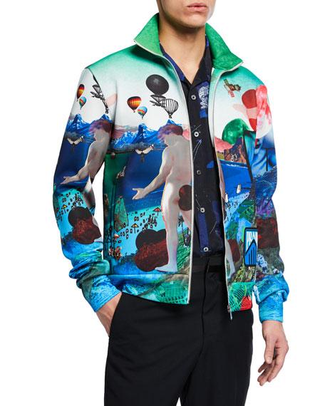 Men's Graphic-Pattern Track Jacket