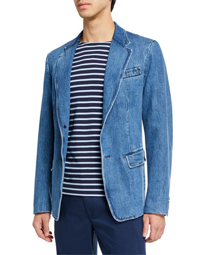 Men's Washed Denim Sport Jacket