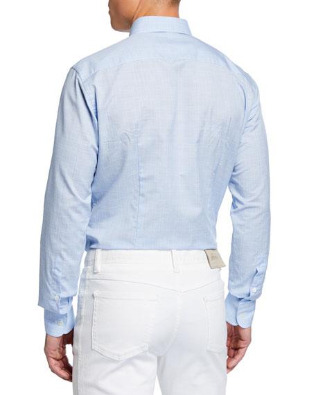 Men's Plaid Cotton/Linen Shirt