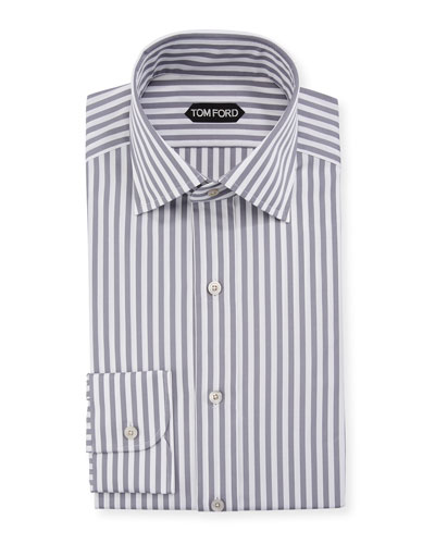 Men's Summer Stripe Dress Shirt