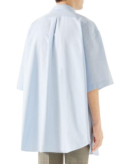 Men's Oversized Short-Sleeve Oxford Shirt