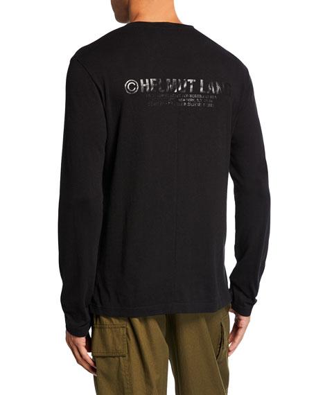 Men's Tonal-Logo Band Seam Long-Sleeve T-Shirt