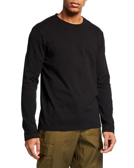 Helmut Lang Men's Tonal-Logo Band Seam Long-Sleeve T-Shirt
