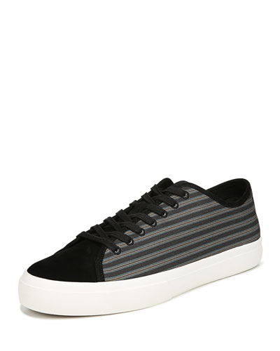Men's Farrell-3 Canvas/Leather Low-Top Sneakers