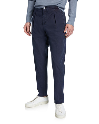 Men's Solid Seersucker Pants  Blue