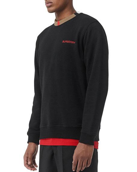 569439d09499 Burberry Men s Jarrad Icon Stripe Sweatshirt