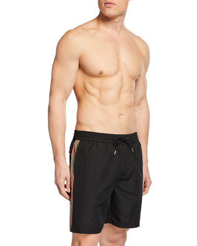 Men's Guildes Logo Swim Trunks  Black