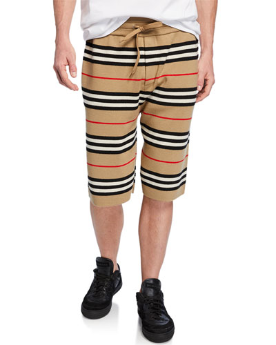 Men's Kentond Drawcord Striped Shorts