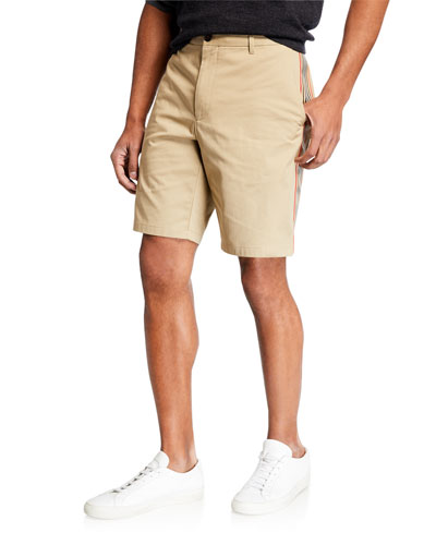 Men's Straight-Leg Side-Stripe Chino Shorts
