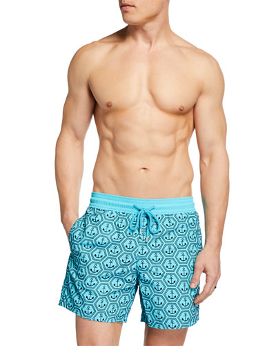 Men's Ancre de Chine Flocked Swim Trunks