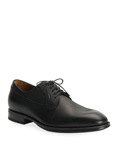 Men's Decker Scotch-Grain Lace-Up Shoes