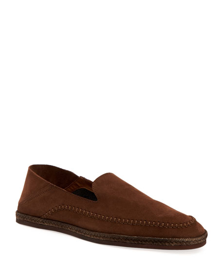Aquatalia Loafers MEN'S NICK SUEDE LOAFERS