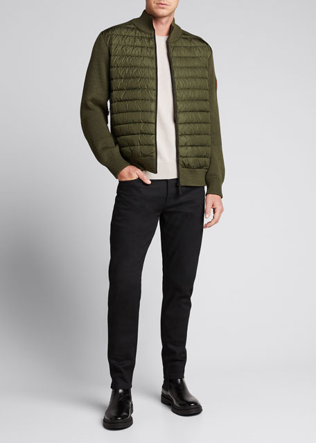 Canada Goose Jackets MEN'S HYBRIDGE KNIT-SLEEVE PUFFER JACKET