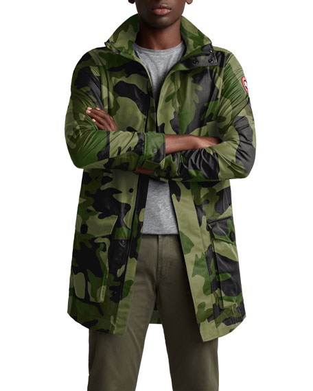 Canada Goose Men's Crew Camo Print Trench Coat