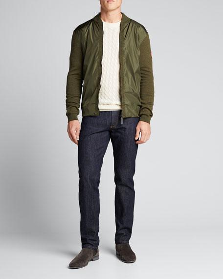 Canada Goose Sweaters MEN'S WINDBRIDGE FULL-ZIP WOOL SWEATER