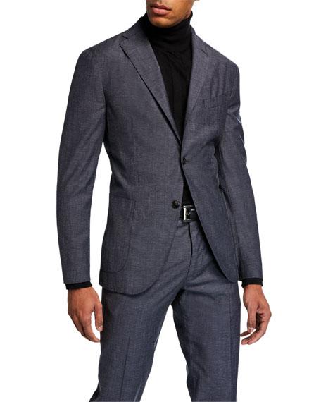 Boglioli Men's Two-Piece Melange Suit