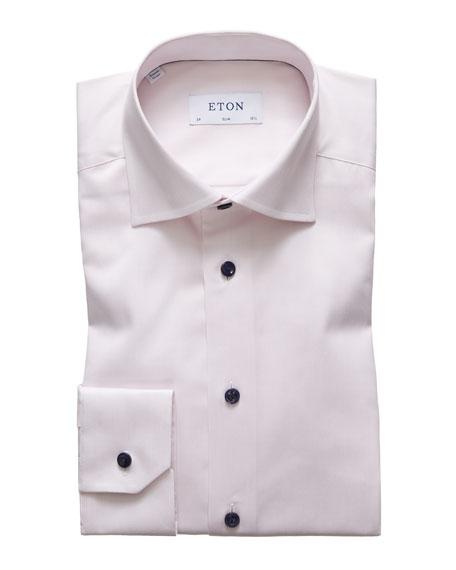 Eton Dresses MEN'S SLIM-FIT CONTRAST-BUTTON DRESS SHIRT