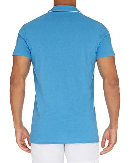 Men's Donald Polo Shirt w/ Contrast Piping