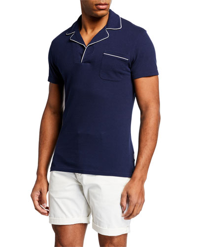 Men's Donald Polo Shirt w/ Contrast Piping