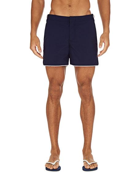 Men's Setter Contrast-Piping Swim Trunks