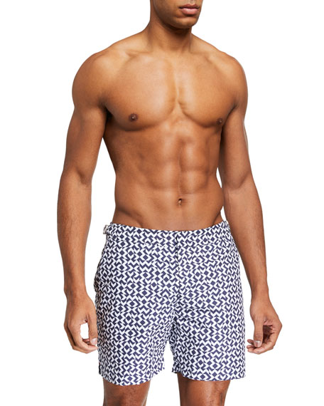 Orlebar Brown Men's Bulldog Frecce Graphic Swim Trunks