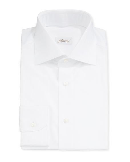 Men's Textured Striped Dress Shirt