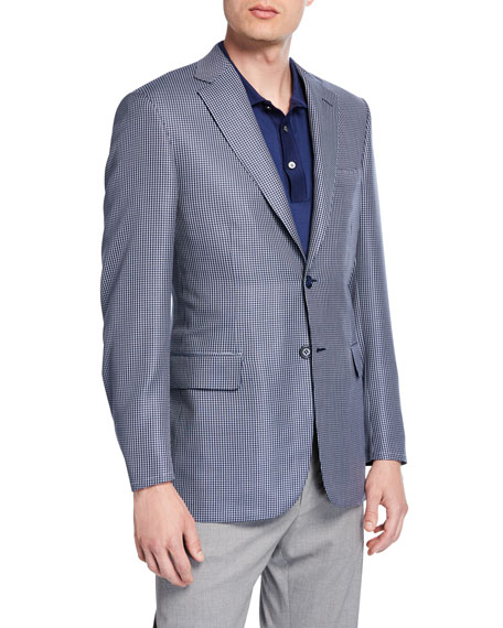 Men's Houndstooth Two-Button Jacket