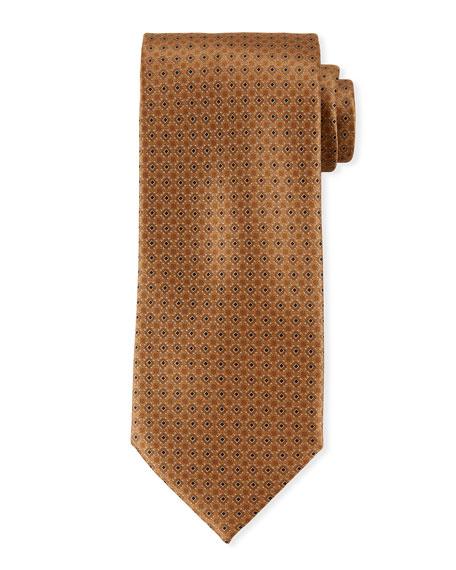 Printed Diamond Silk Tie
