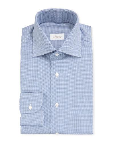 Men's Houndstooth Check Dress Shirt