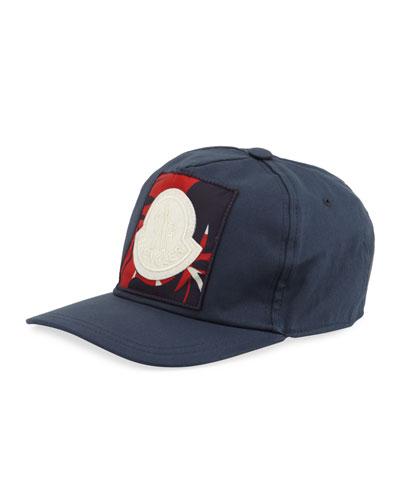 Men's Berretto Logo-Patch Baseball Cap