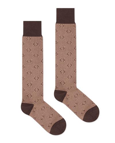 Men's Tonal GG Cotton/Wool Socks